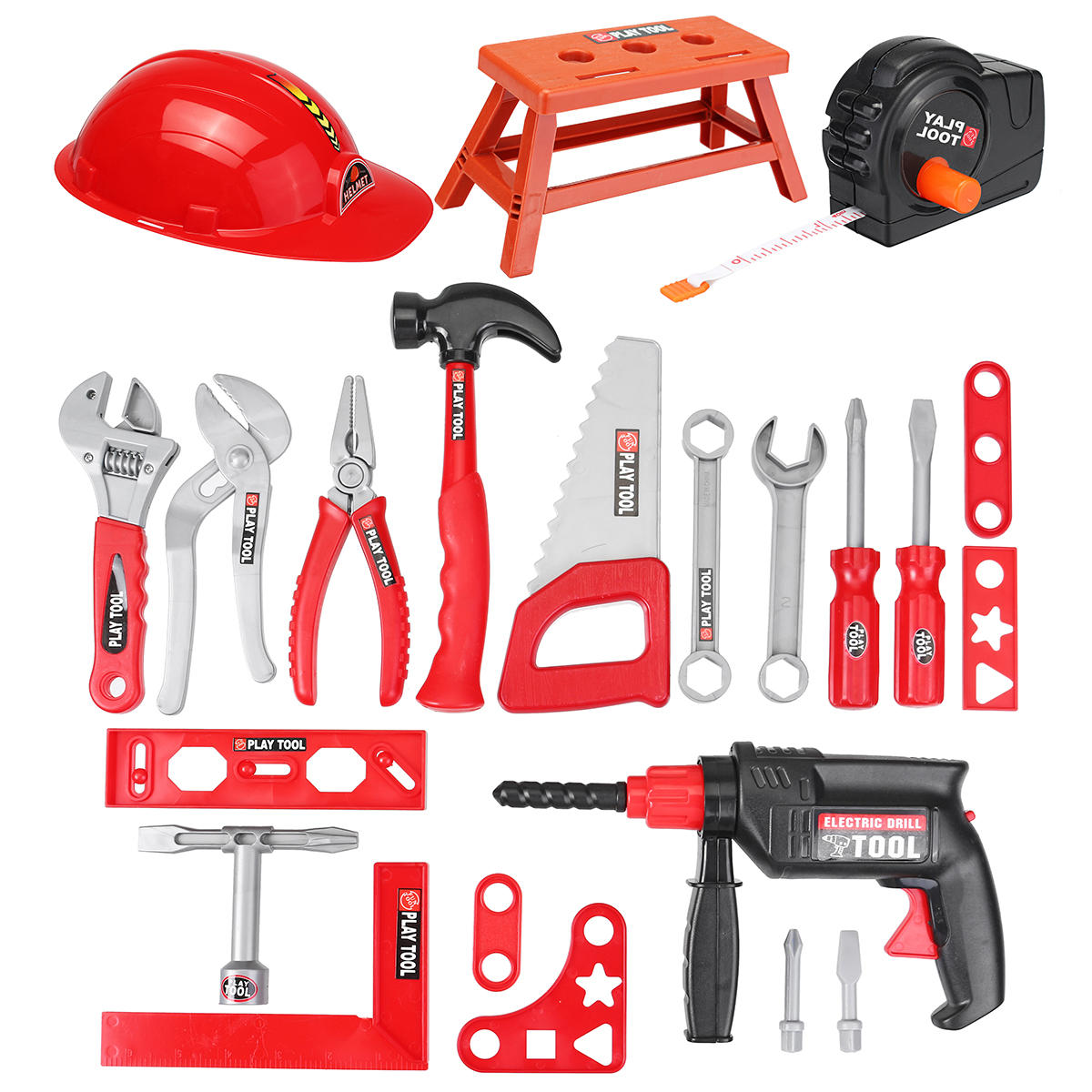 ab415396c 31Pcs Children Drill Tool Set Role Play Builders Building Construction Toy  Repair Tool Kits COD