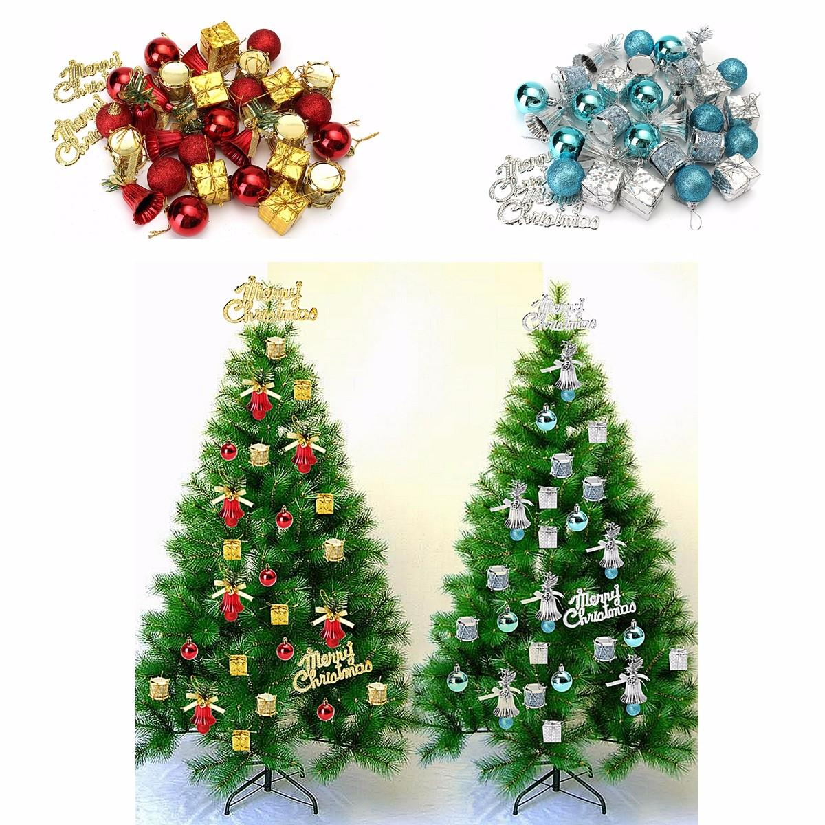 32pcs Christmas Ornaments Balls Drums Baubles Xmas Tree Pendant Home