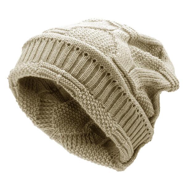 761e9069d Mens Women Knitted Bonnet Beanie Hat Casual Woolen Winter Warm Hat