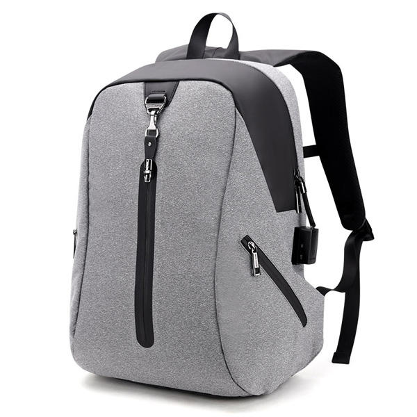 Alarm System Men Anti-theft Backpack Water Repellent Business Travel Laptop Backpack
