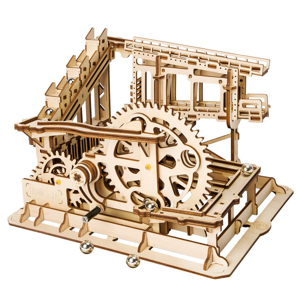 Puzzle de madera 3D Marble Run Assembly Set Cog Magia Crush Tracks DIY Modelo Building Gift