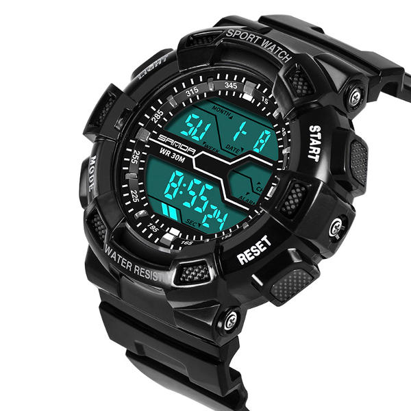 SANDA 378 Digital Watch Military Stopwatch Waterproof Outdoor Sport Men Watch
