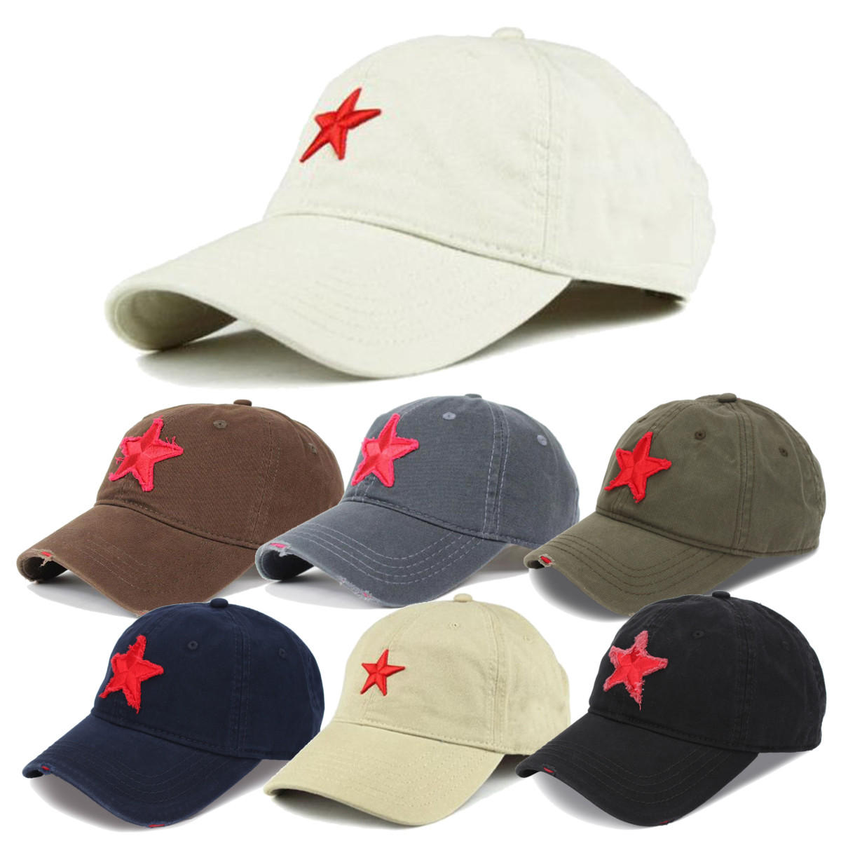 unisex baseball cap golf hat ball five-pointed star embroidery casual sun  caps outdoor sports hat at Banggood sold out 3fddbd5d6