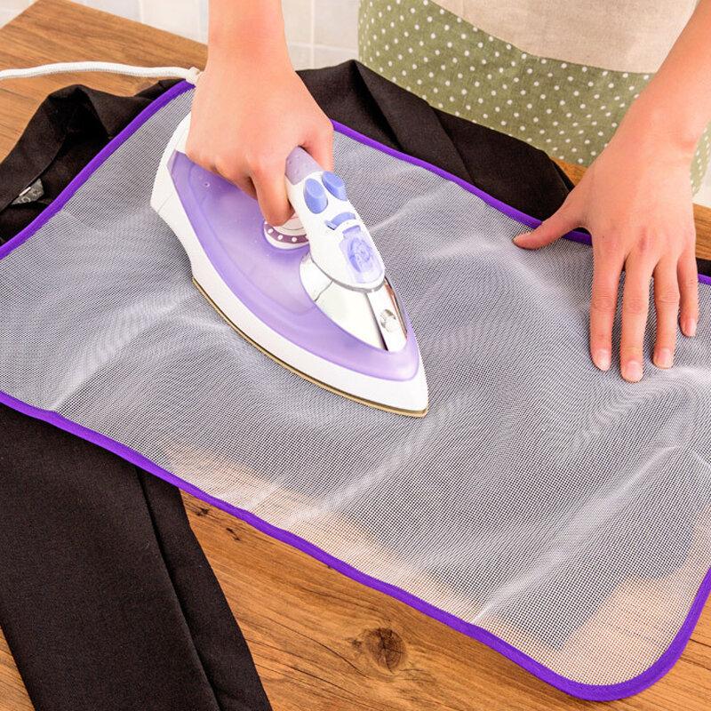 KCASA Защитная пресс-сетчатая гладильная ткань Деликатная тонкая ткань для защиты одежды Обложка сетчатой ткани для гладильной доски