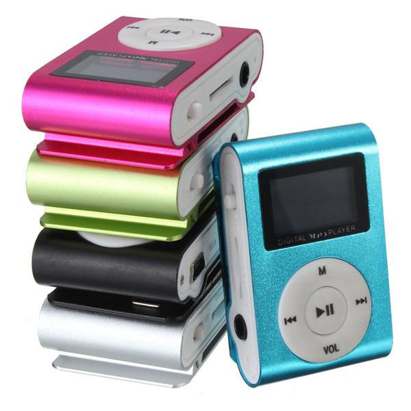 Mini USB MP3 con Clip Musica Media Lettore Schermo LCD Supporta 32GB Scheda Micro SD TF