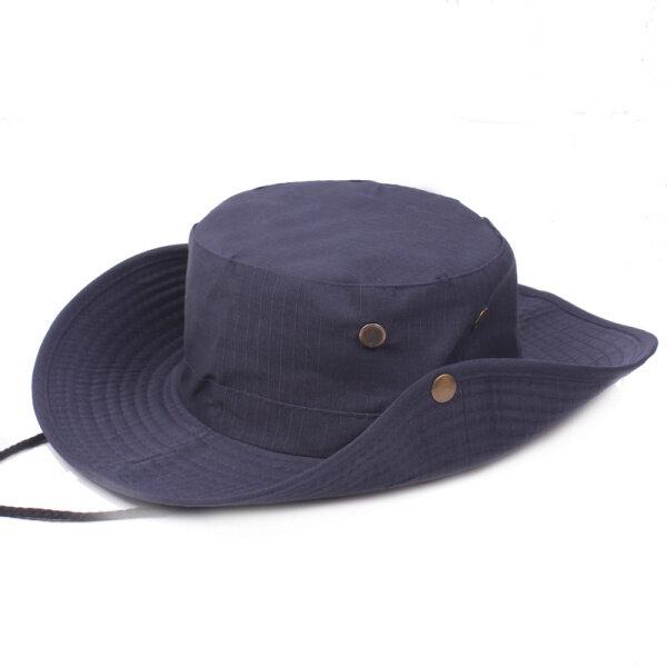 a478ffd7a6eb68 Mens Cotton Wide Brim Bucket Hat Summer Outdoor Sunscreen Visor Fisherman  Hats - White COD