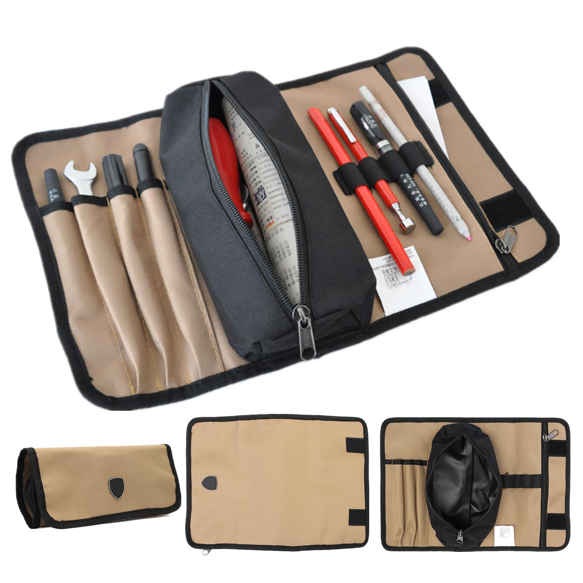 Tool Bags Symbol Of The Brand Storage Canvas Hardware Tool Bag Electrician Drill Nails Hand Pouch Organizer Screws Bit Parts
