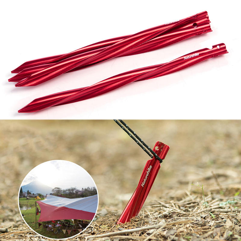 Naturehike NH17D024-D Tent Pegs 7001 Aluminium Alloy Nails Camping Stake Accessories