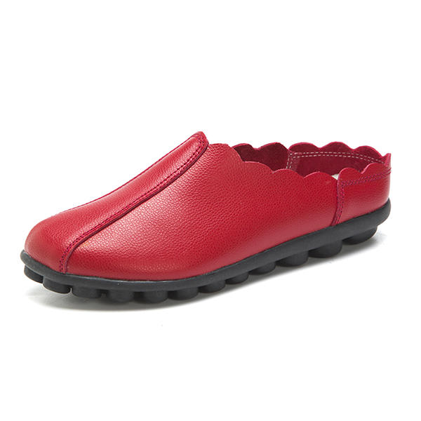 US Size 5-12 Women Comfortable Slip On Laciness Flat Loafers