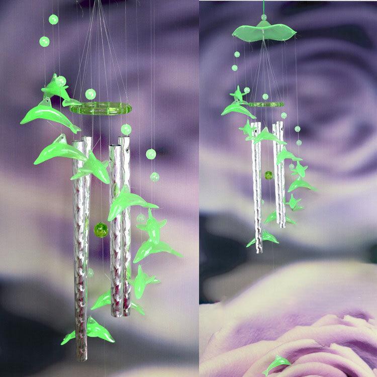 Lumineux Dolphin Campanula Windbell pour les décorations à la maison