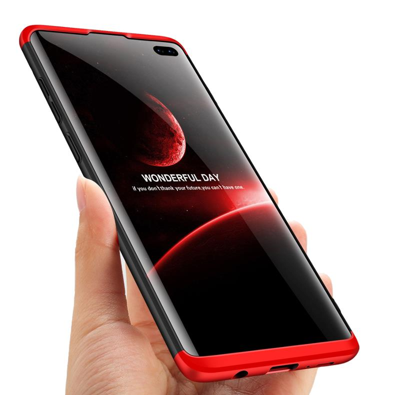 Bakeey™ 3 in 1 Double Dip 360° Hard PC Protective Case for Samsung Galaxy S10/S10 Plus