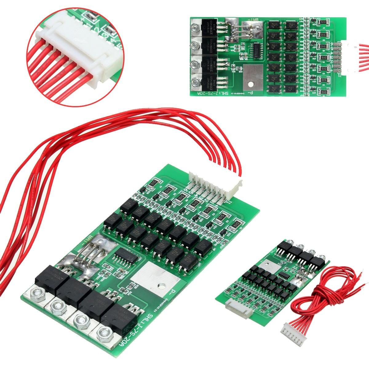 7S Cells 4.2V 20A Balancing Li-ion Lithium 18650 Battery Protection Board