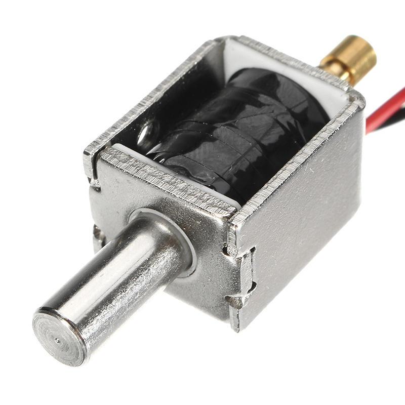 12v Dc 0 43a Mini Electric Bolt Lock Push Pull Cylindrical Solenoid 5mm Stroke Cod