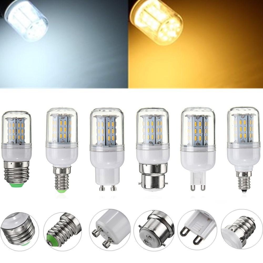E27 E14 E12 G9 GU10 B22 4014 SMD lámpara de la bombilla del maíz del LED 4W para el hogar