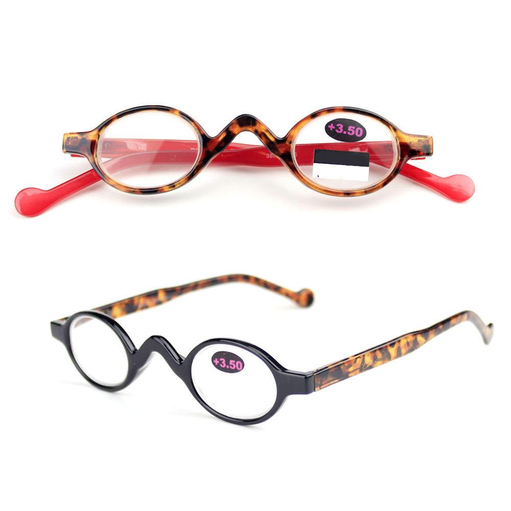 Mänskliga kvinnor Billiga Runda läsglasögon Multicolor Computer Presbyopic Glasses
