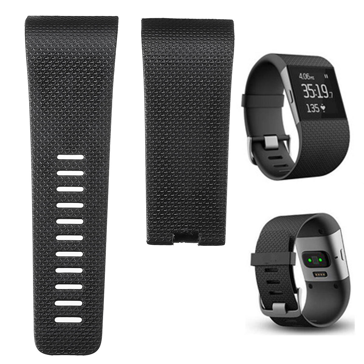 Large Replacement TPU Band Strap Wristband for Fitbit Surge Activity Tracker