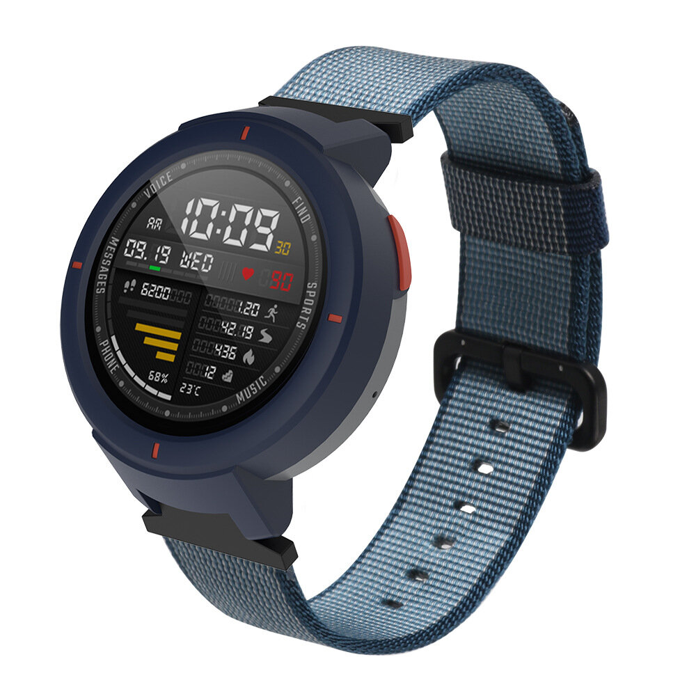 Bakeey Durable Canvas Nylon Montre de remplacement Bande pour Xiaomi Amazfit Verge Montre intelligente