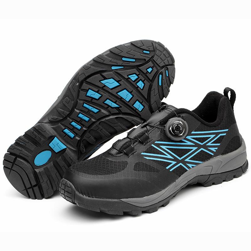 Puntera de acero ligero de los hombres Entresuela a prueba de balas Seguridad Slip-on Deportes Zapatillas de deporte atléticas Zapatillas de deporte