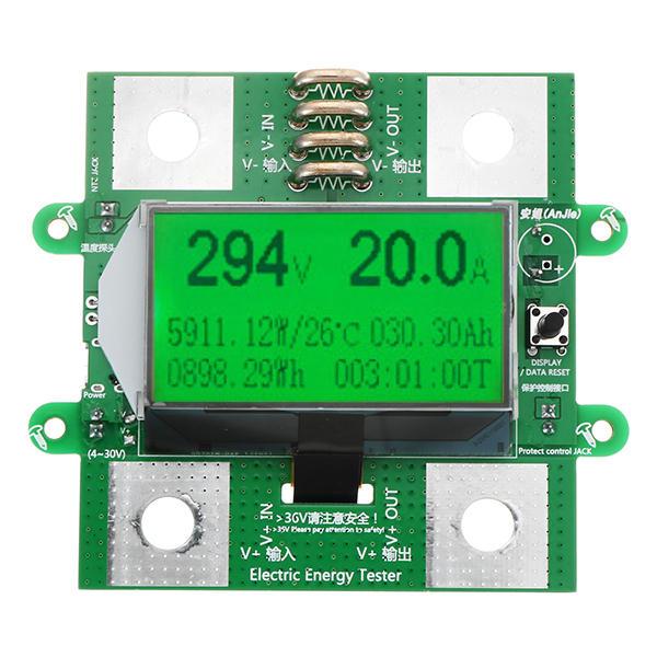 300V100A Digital DC Voltmeter Ammeter Power Meter Battery Tester Multi Function Power Meter