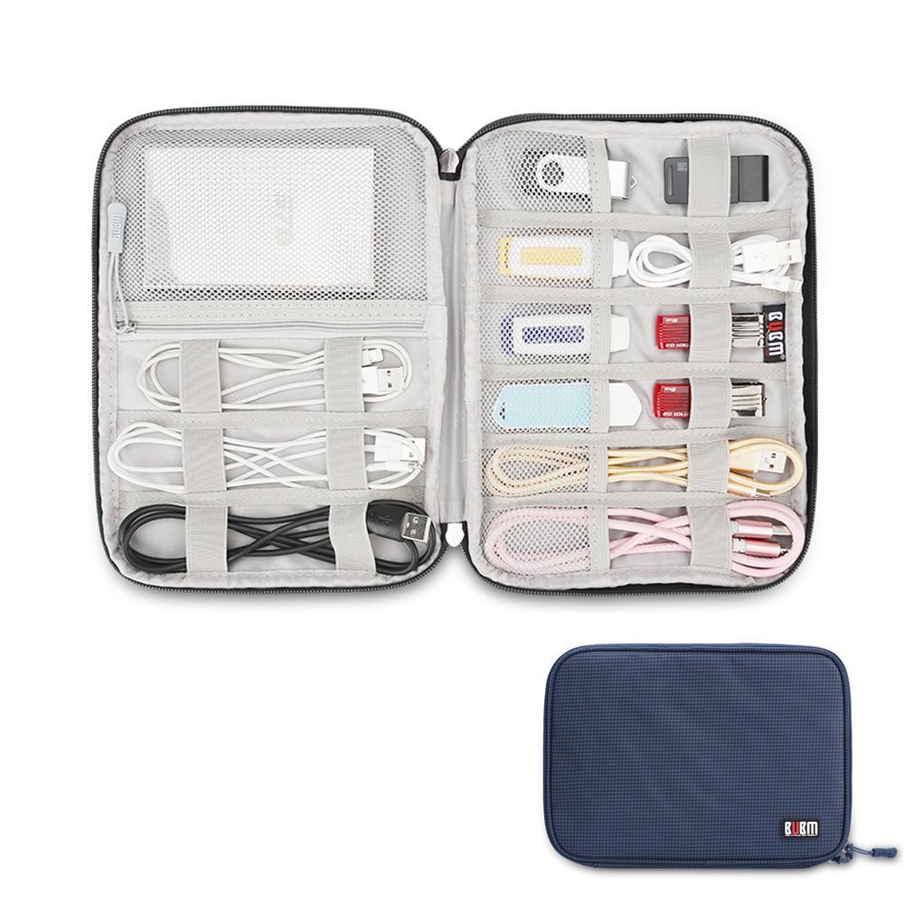 BUBM DIO-M 범용 전자 제품 액세서리 케이블 오거나이저 여행용 운반용 가방 USB 하드 드라이브 외장 플래시 드라이브