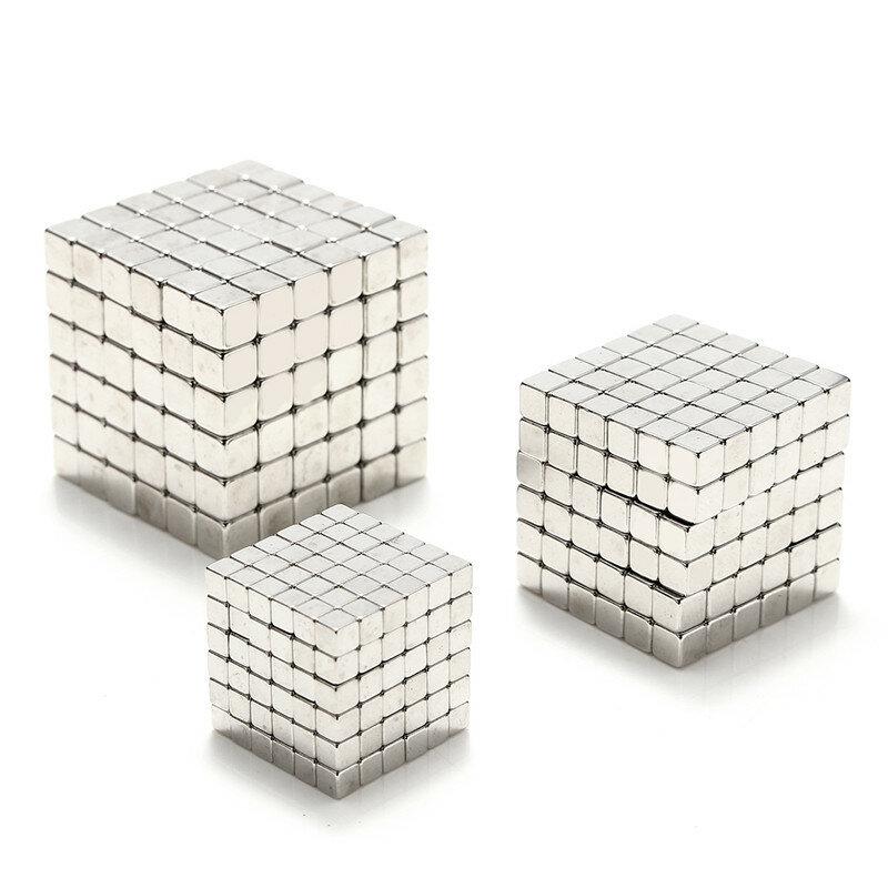 3/4/5 มิลลิเมตร 216 ชิ้นของเล่นแม่เหล็ก Cube ลูกบอลแม่เหล็ก มายากล Puzzle 3D สแควร์ลูกบอลทรงกลมตกแต่งของ
