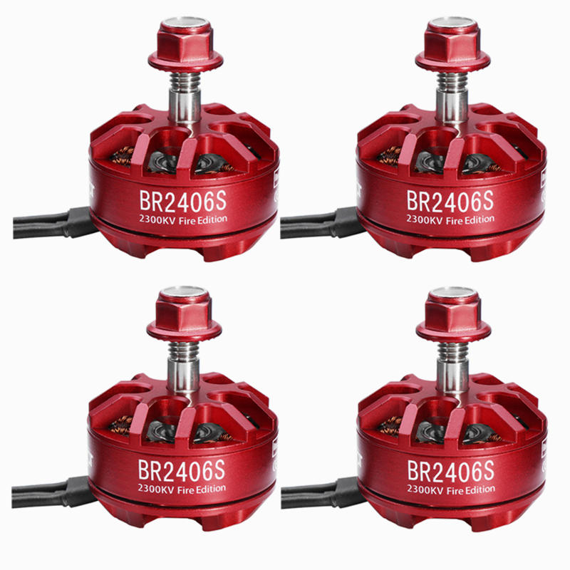 4X Racerstar 2406 BR2406S Fire Edition 2300KV 2-5S Brushless Motor For X220 250 280 300 for RC Drone
