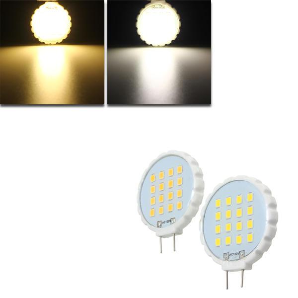G8 1.3W 16 SMD 2835 LED Pure White Warm White Ceramic Material Home Lighting Bulb AC110V