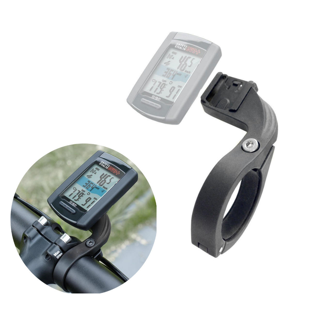 BIKIGHT Out Front Bike Handlebar Mount Stents Fit For Cateye Wireless Code Table
