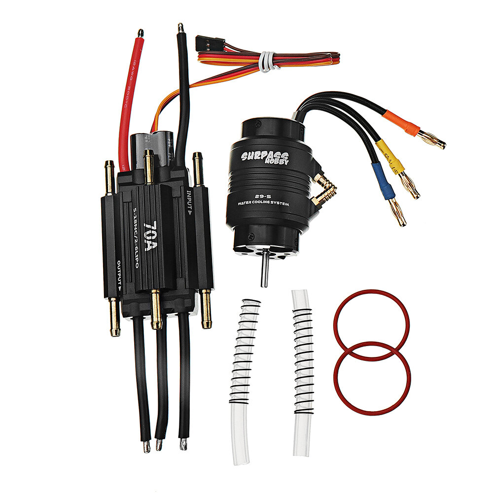 2958 4200kv Brushless Motor 70a Esc 29 S Water Cooling Jacket Combo Wiring Diagram For Two Motors And One Recommended Set 2