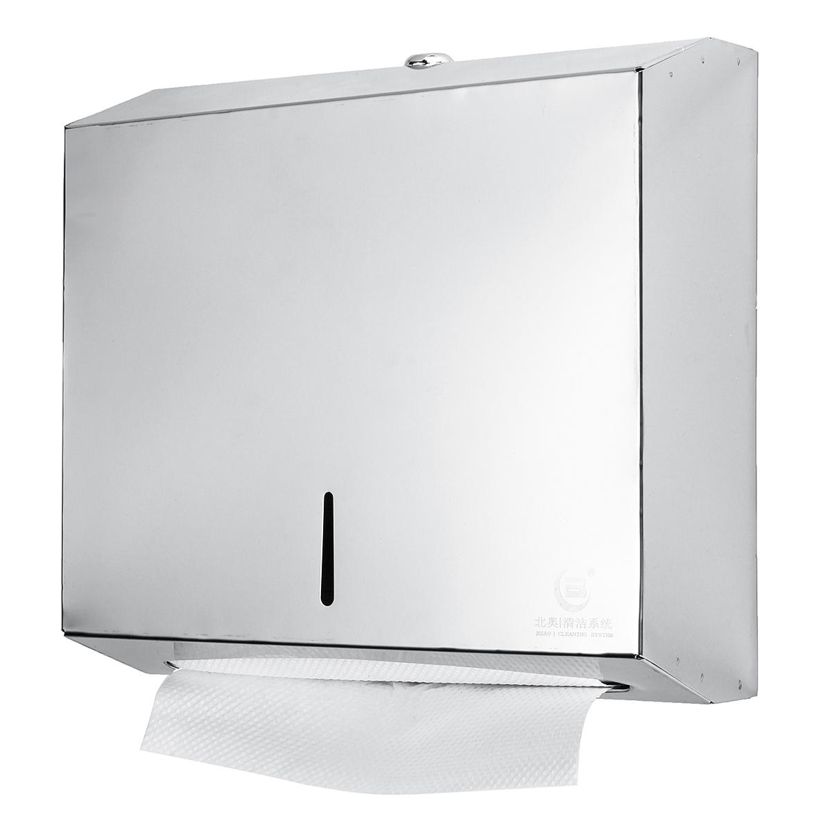 Toilet tissue hand paper towel dispenser wall mount holder - Bathroom towel and toilet paper holders ...
