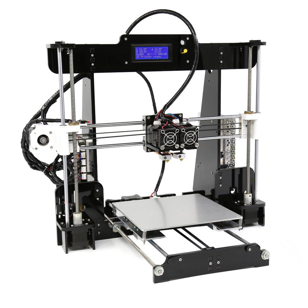 Anet® A8-M DIY 3D Imprimante Kit Dual Extrudeur Support d'Impression de Dual-Coleur Protection de Chauffage Anormale 220*220*240mm Taille d'Impression