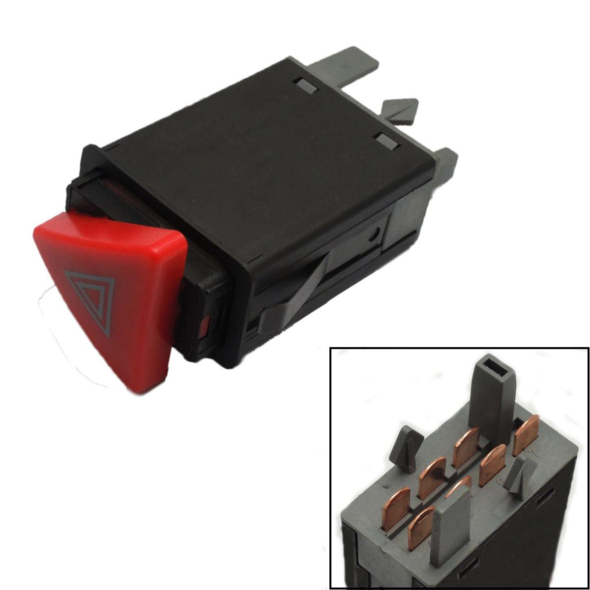 Hazard Warning Indicator Light Switch Red Button For SKODA OCTAVIA 1U0953235B