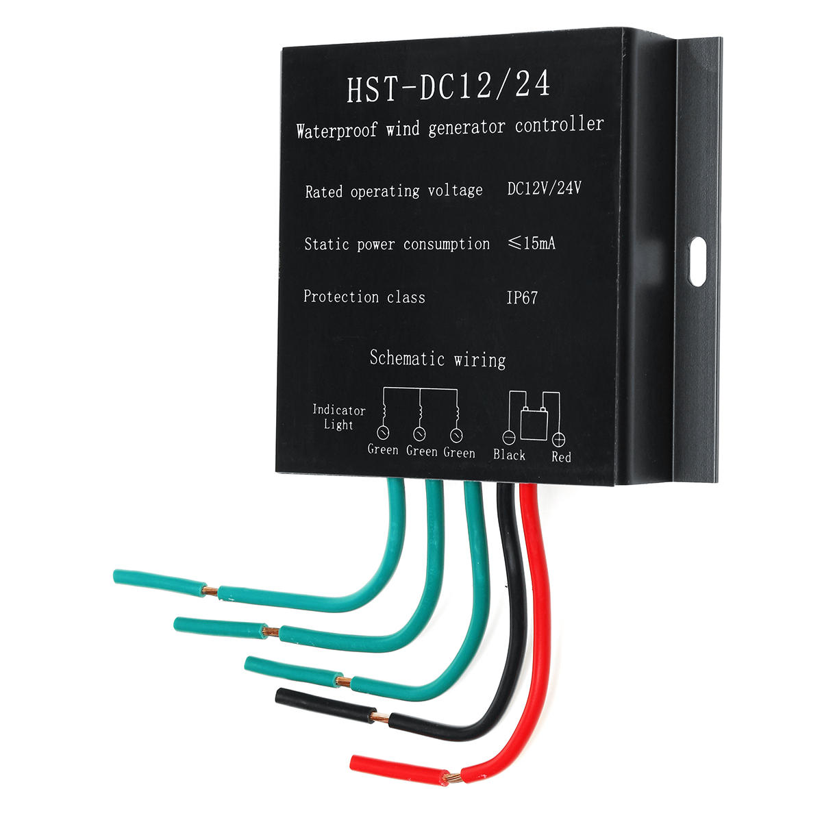 100W-500W DC 12V//24V Wind Turbine Generator Controller Battery Charge Protection