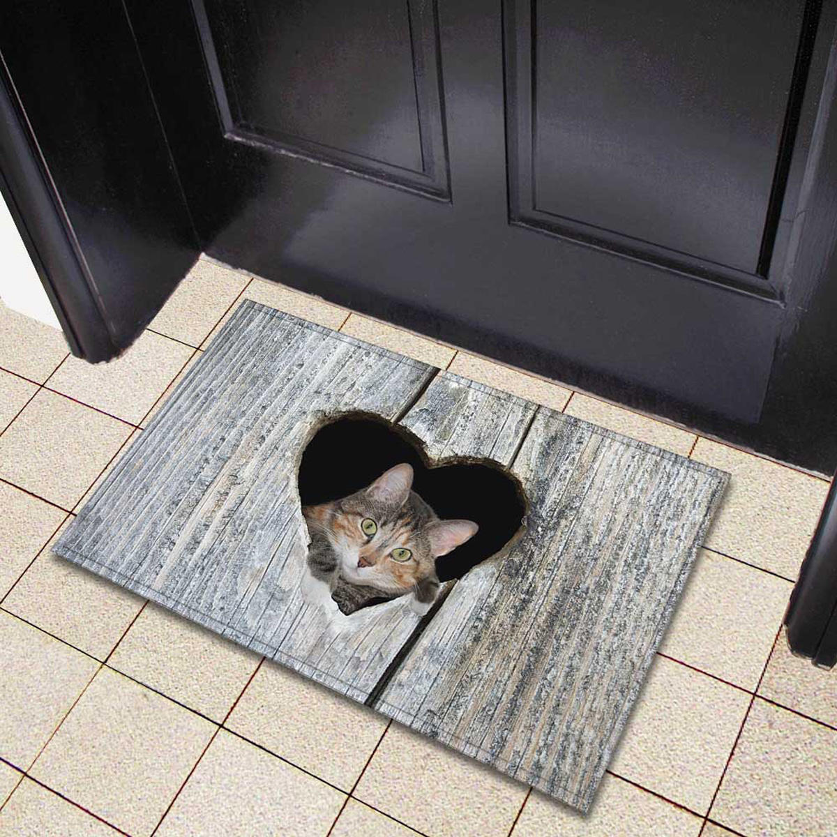 Door Mat Cartoon Cute Cat Kitchen Rugs Bedroom Carpets Living Room Floor Mat