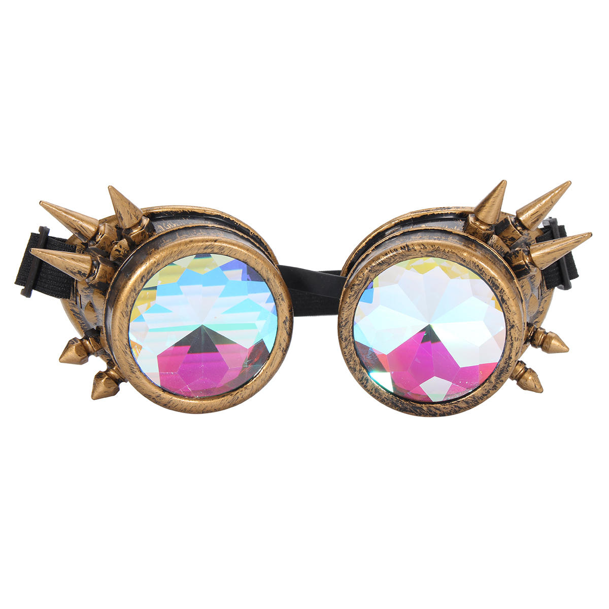 3eba74a94e124 Unisex Retro Steampunk Goggles Spikey Costume Cosplay Gothic Punk Adults Motorcycle  Glasses - Silver