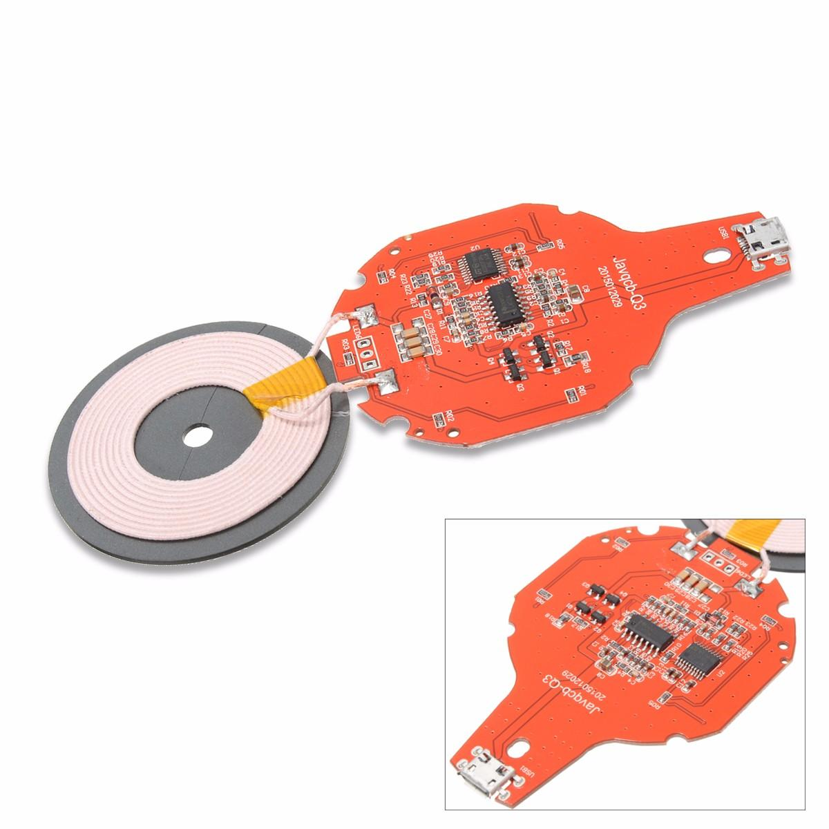 Qi Wireless Charger Pcba Circuit Board Coil Charging Micro Mobile Diagram Usb Port Diy