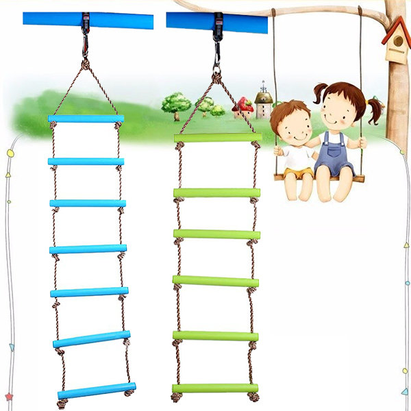 6 rungs 2m pe rope children toy swing max load 120kg outdoor indoor plastic ladder rope