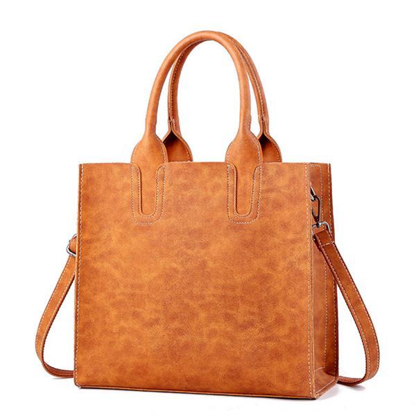 Женское Повседневная сумка большой емкости Микроволокно Solid Shoulder Сумки