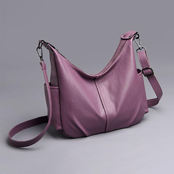 women soft leather pure color shoulder bag crossbody bag at Banggood 37caab60c637d