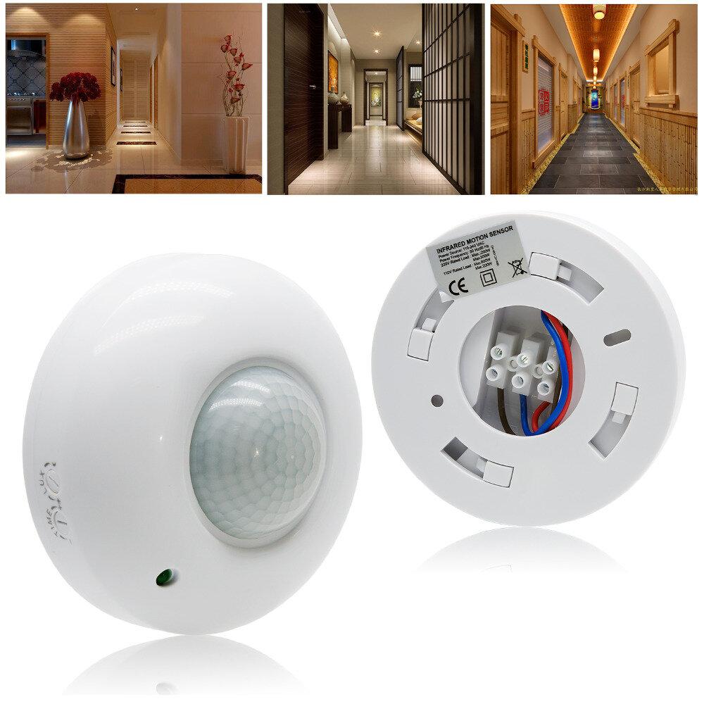 360° Automatic Infrared PIR Motion Sensor Switch for LED Ceiling Light AC220-240V