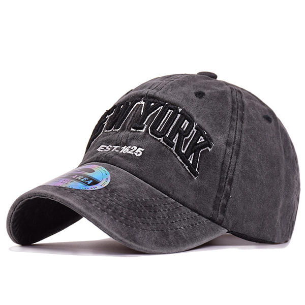 e90b4246a4a Men Washed Denim Baseball Caps Letters Applique Embellished Peaked Cap  Outdoor Hats COD