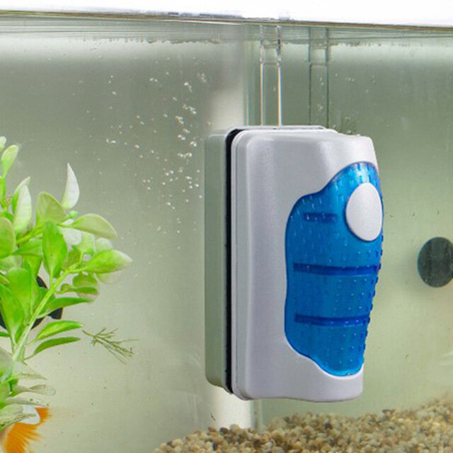 Practical Floating Aquarium Brush Magnetic Brush Aquarium Fish Tank Glass Cleaning Brush