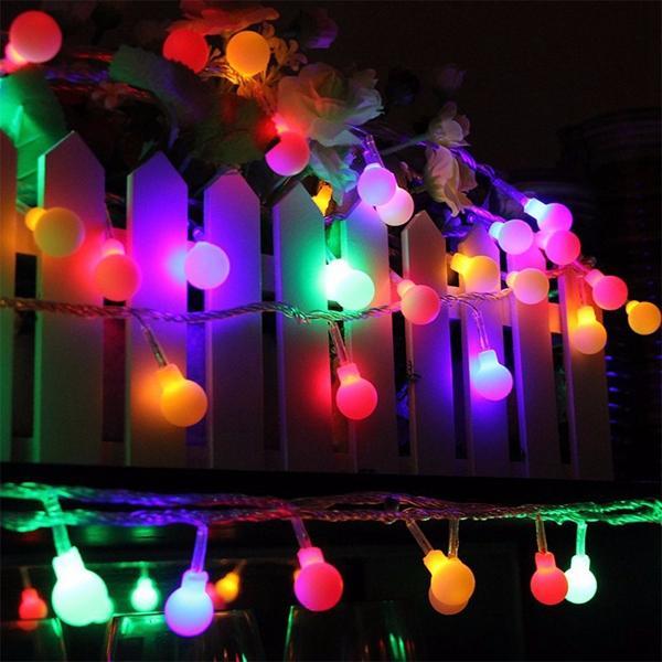 แบตเตอรี่ Powered 5M 30 LED ลูกบอล Fairy String Light Christmas Outdoor งานแต่งงาน ตกแต่งงานคริสต์มาส