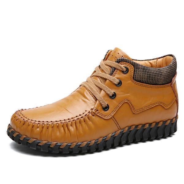 Женское Кожаный комбинезон ручной работы в кружевной лодыжке Ботинки