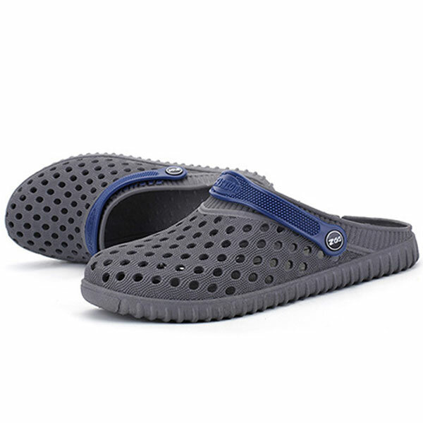 d4baaf05ab6e men hollow out beach casual slipper sandals in mesh at Banggood
