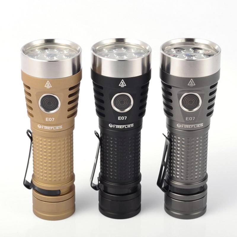 Fireflies E07 7 X Nichia Xpl Sst20 6900lumens Brightness Easy Operation Edc Led Flashlight Cod