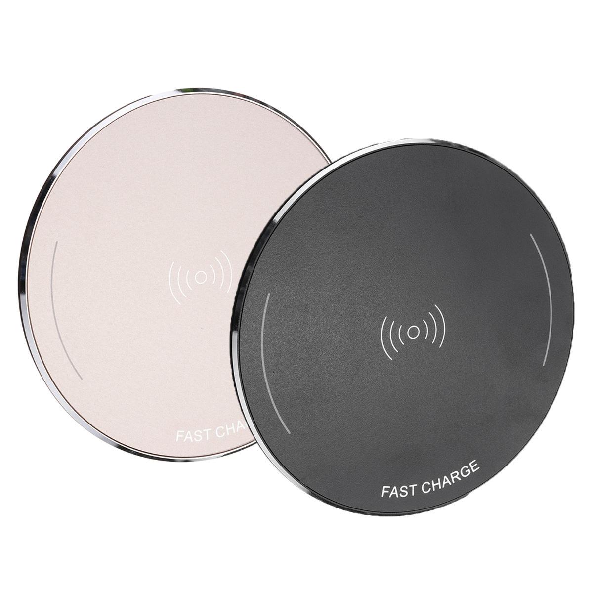 Bakeey 10W Metal Scrub QI kablosuz Hızlı Şarj Şarj Cihazı Pad iPhoneX için 8 / 8Plus Samsung S8 iwatch 3