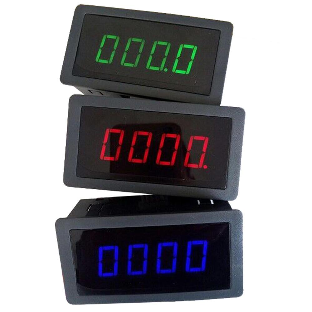 4 Digital LED Tachometer RPM Speed Measure Gauge With Hall Proximity Switch Sensor NPN