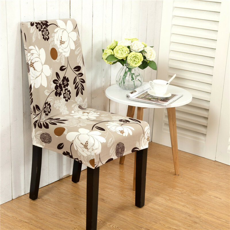 Honana Wx 915 Elegant Flower Landscape Elastic Stretch Chair Seat Cover Dining Room Home Wedding Decor 05 Cod