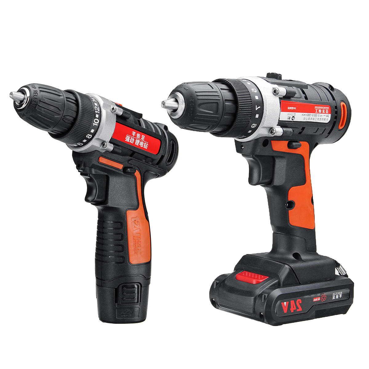 12V/24V Lithium Battery Power Drills Cordless Rechargeable 2 Speed Electric Drill – 24V